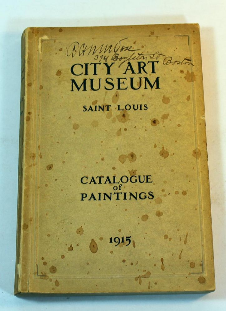 City Art Museum, Saint Louis, Catalogue of Paintings, 1915
