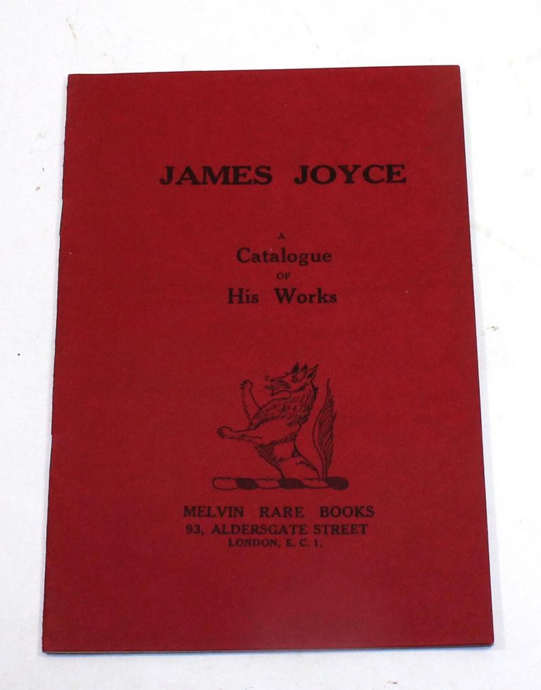 James Joyce: A Catalogue of His Works