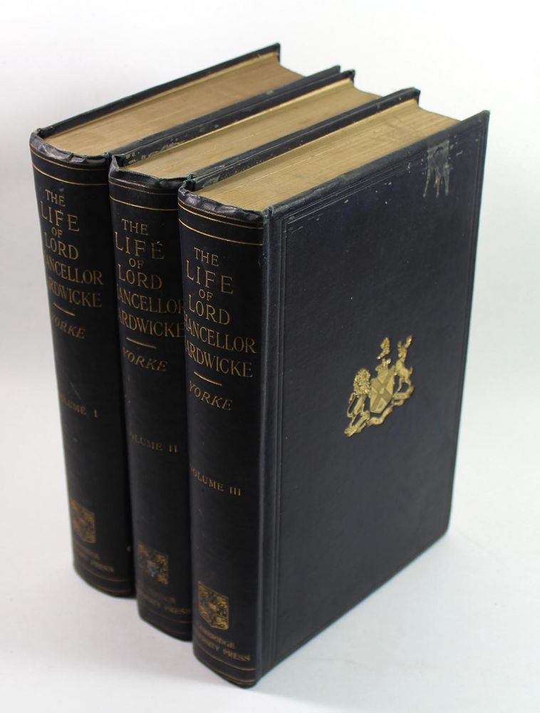 The Life and Correspondence of Philip Yorke, Earl of Hardwicke, Lord High Chancellor of Great Britain [3 Volume Set]. Philip C. York.