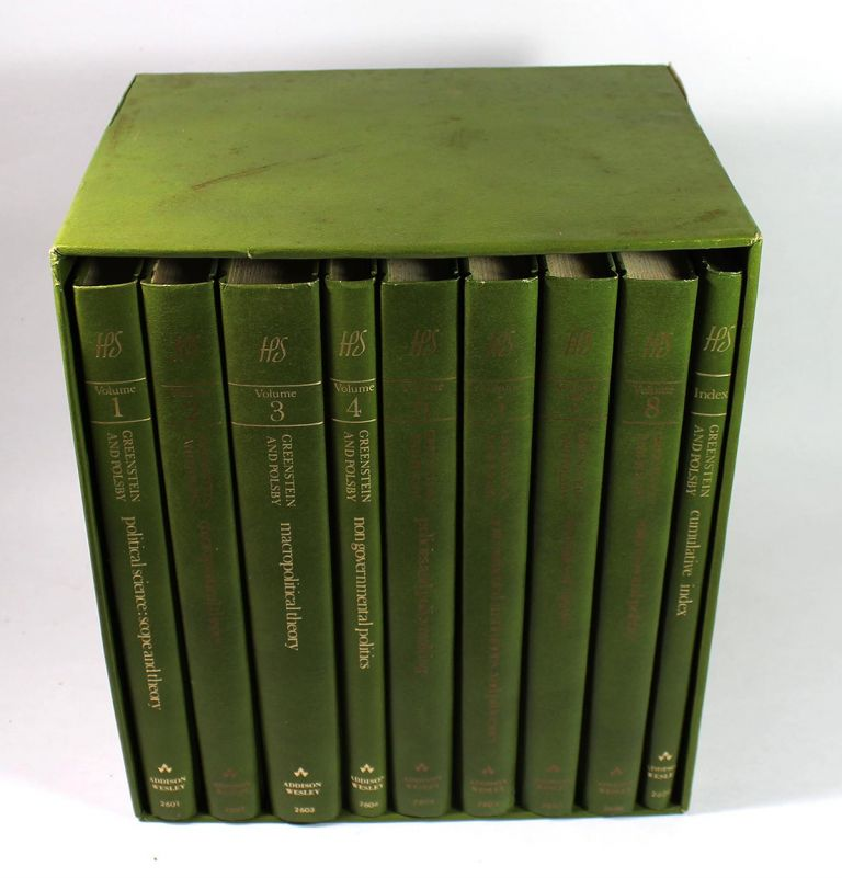 Handbook of Political Science (8 Volume Boxes Set with Index). Fred I. Greenstein, Nelson W. Polsby.