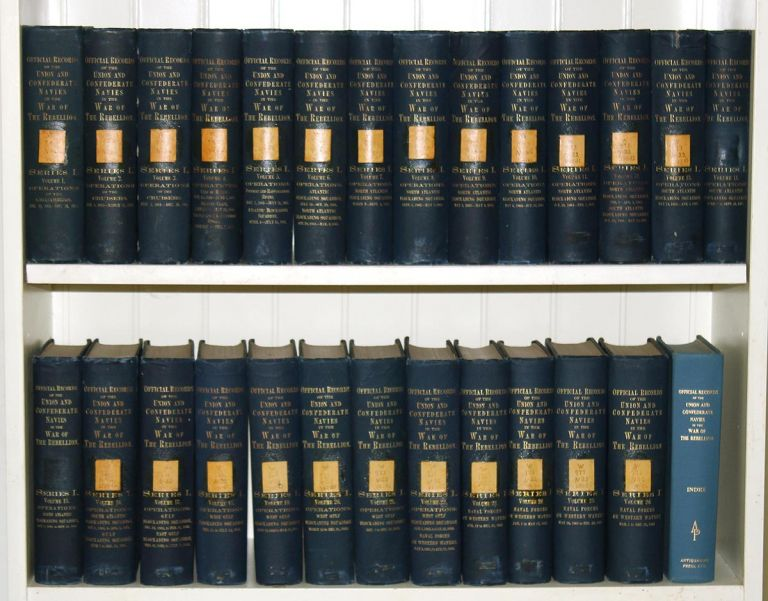 Official Records of the Union and Confederate Navies in the War of the Rebellion. Series I (26 Volume Set + Reprint Edition Index). Richard Rush, Robert H. Woods.