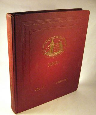 Lloyd's Register of Shipping, Register Book 1958-59. Volume IV Directory