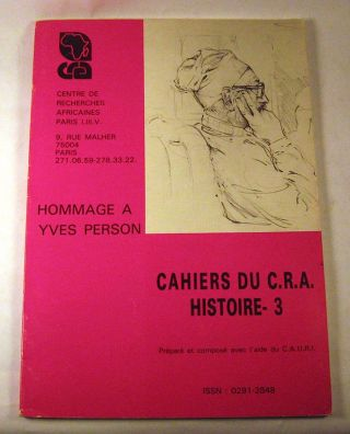 Hommage a Yves Person: Cahier du C.R.A. histoire - 3