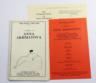 The Poets' Theatre Presents a Tribute to Anna Akhmatova, Sanders Theatre, Sunday, February 18, 1990