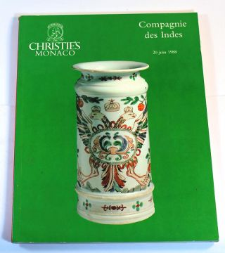 Compagnie des Indes. Appartenant a Divers Amateurs, 20 Juin 1988