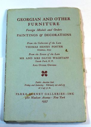 Georgian and Other Furniture, Foreign Medals, and Orders, Paintings & Decorations from the...