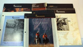 Browning Hunting Products Catalog Collection: 1986 Wholesale Price List; 1987 catalog; 1987 price...