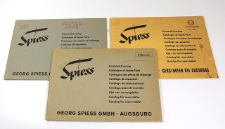 3 Georg Spiess GmbH Catalogues of Spare Parts