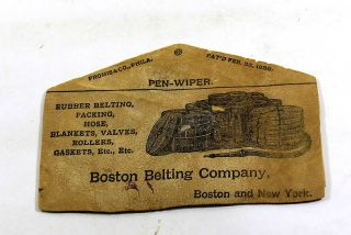 [Manufacturer's Sample from Boston Belting Co.,]