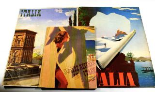 three Italian travel magazines from the late 1930s