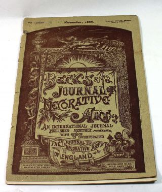 Beck's Journal of Decorative Art, November 1886