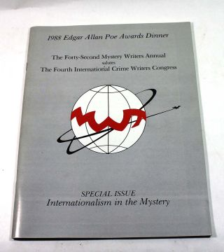 1988 Edgar Allan Poe Awards Dinner: the Forty-Second Mystery Writers Annual Salutes The Fourth...