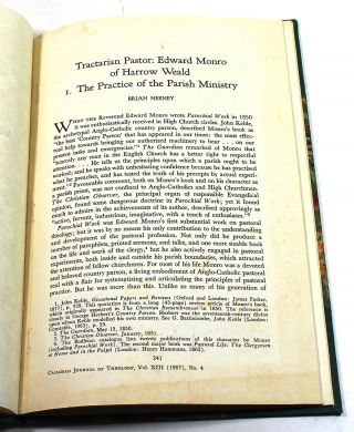 """Tractarian Pastor: Edward Monro of Harrow Weald"""