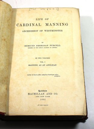 Life of Cardinal Manning: Archbishop of Westminster