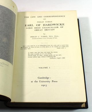 The Life and Correspondence of Philip Yorke, Earl of Hardwicke, Lord High Chancellor of Great Britain [3 Volume Set]