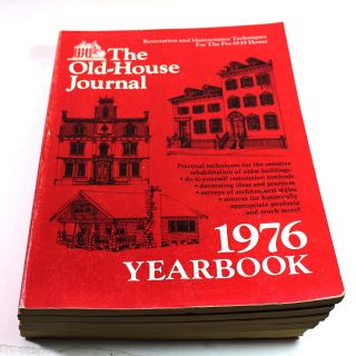 The Old-House Journal Yearbook 1976, 1977, 1978, 1979, and 1980 [5 book lot