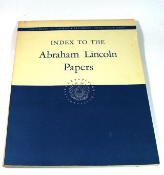 Index to the Abraham Lincoln Papers