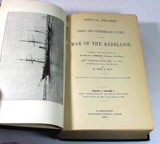 Official Records of the Union and Confederate Navies in the War of the Rebellion. Series I (26 Volume Set + Reprint Edition Index)
