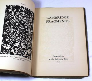 "Cambridge Fragments. ""C S."", Charles Sayle"