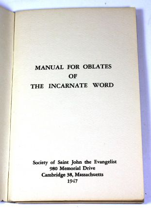 Manual for Oblates