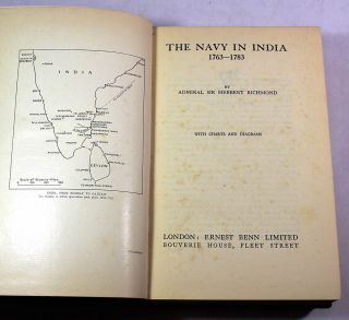The Navy in India, 1763-1783